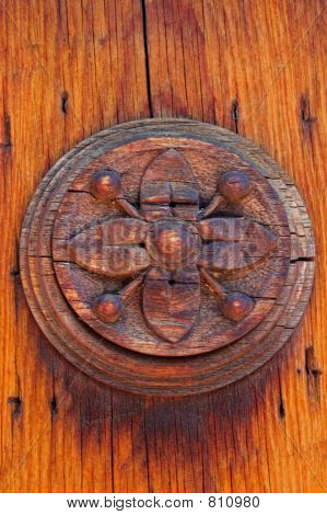 Wooden Door Ornament