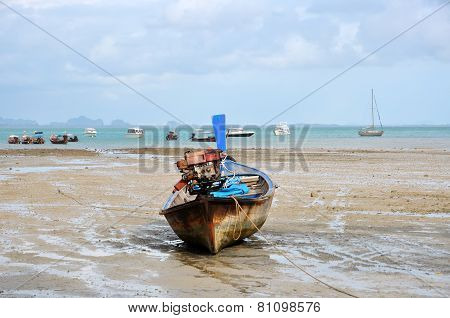 Motor Boat On The Shore