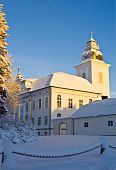 The main church of Mustasaari, built in 1786. It is situated in the historic area Gamla Vasa. poster
