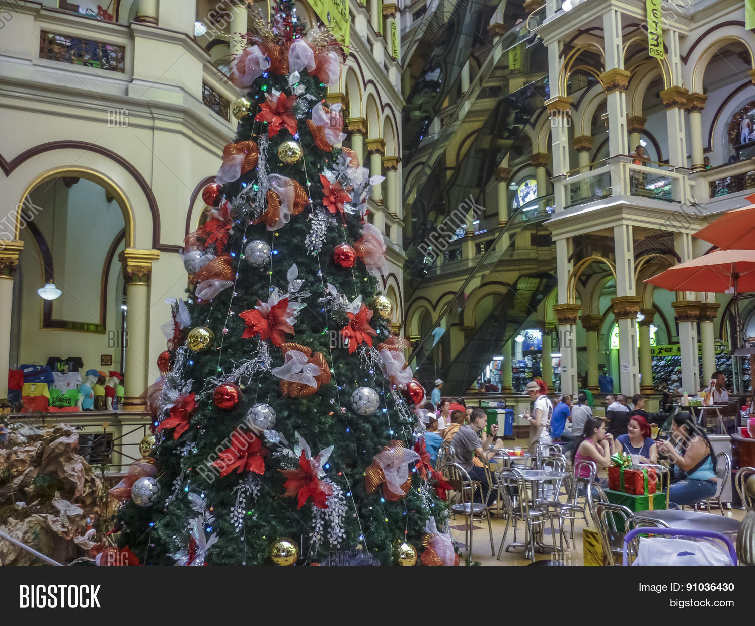 Christmas In Colombia South America.Medellin Shopping Mall Image Photo Free Trial Bigstock