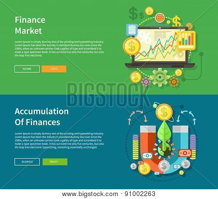 Finance Market and Accumulation of Finances