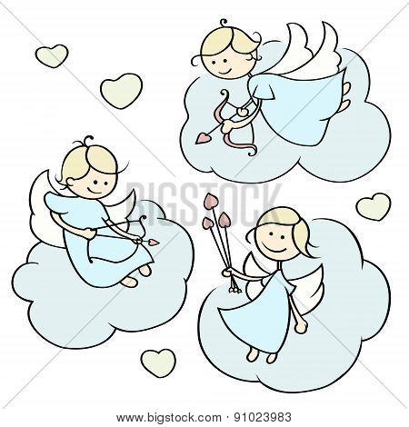 Cartoon Happy Cupids