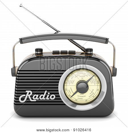 Retro Radio Black Front