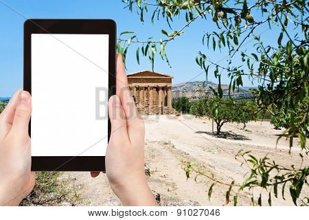Photo Of Temple On Concordia Town Agrigento