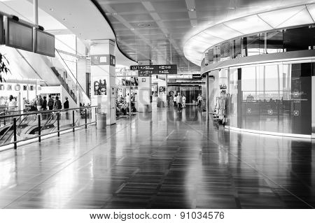 VENICE-JUNE 13: Airport interior on June 13, 2011 in Venice, Italy. Venice Marco Polo Airport is an airport located on the Italian mainland 4.3 nautical miles north of Venice