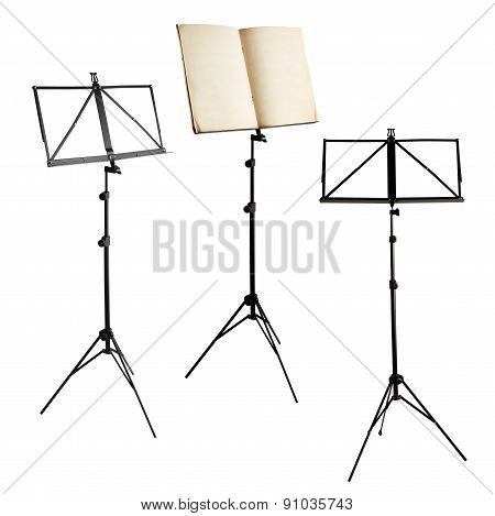 music stands isolated with clipping path