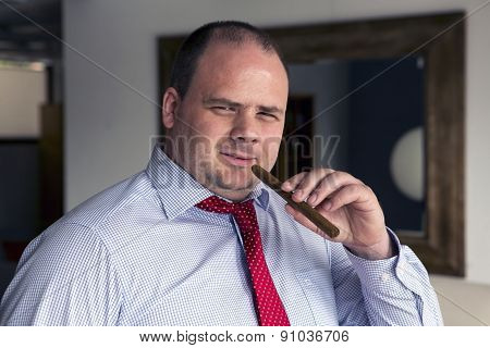 Portrait Of A Man With A Cigar