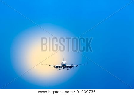 Air Travel - Plane at Landing Approach
