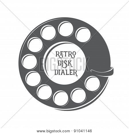 Vector retro disk dialer