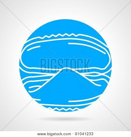 Mussel abstract round vector icon