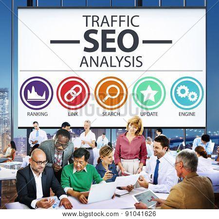 Search Engine Optimisation Analysis Information Data Concept