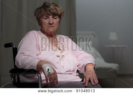Ill Disabled Woman