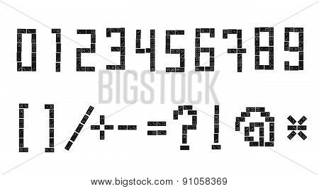 Sloppy Domino Alphabet 3