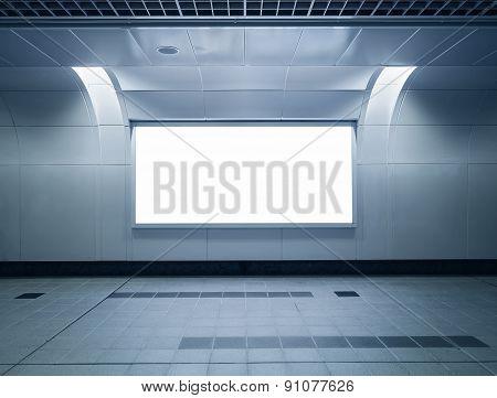 Banner neon box media display horizontal sign indoor airport