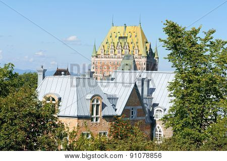 Roofs Of Quebec City In Canada
