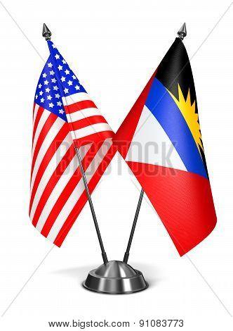USA, Antigua and Barbuda - Miniature Flags.