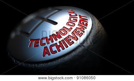 Technological Achievement on Black Gear Shifter.