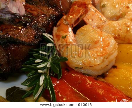 Surf And Turf With Roasted Pepper