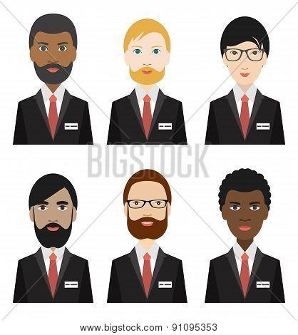 Various Ethnicity Business Men.