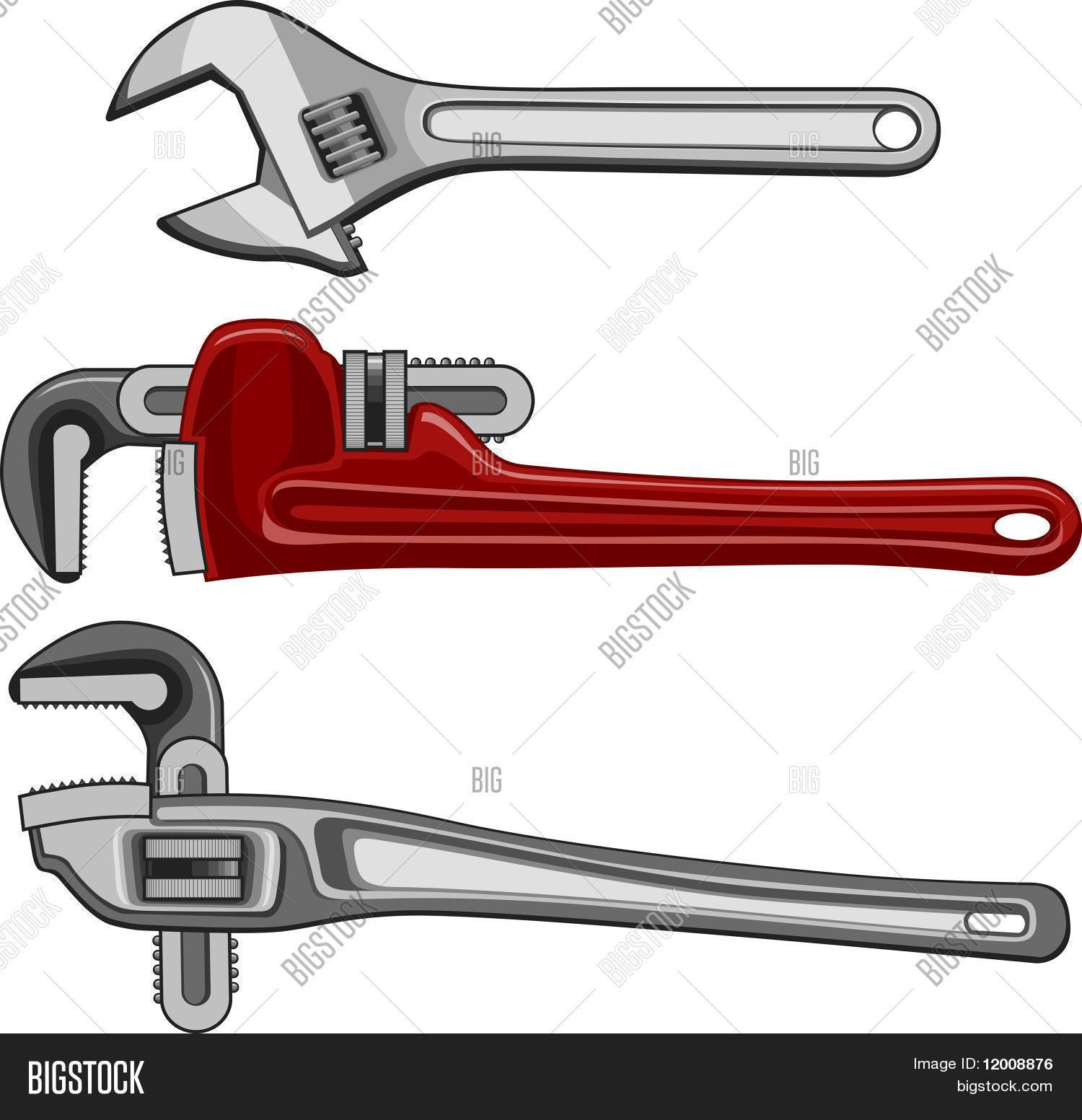 Adjustable Plumbing Pipe Wrenches Vector & Photo | Bigstock