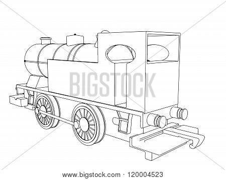 Vector retro train, vintage  vector symbol