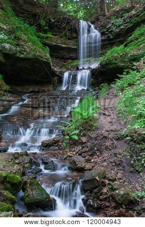 Horseshoe Falls Munising, Michigan, Usa