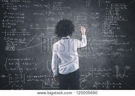 Teenager And Blackboard