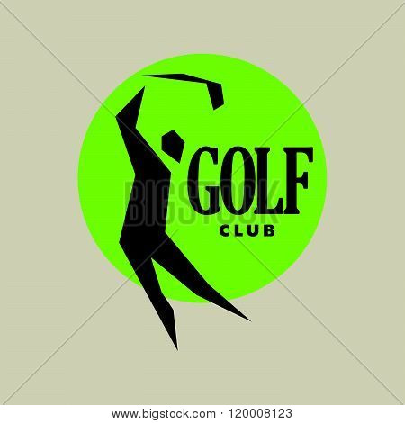 Vector flat golf logo design.
