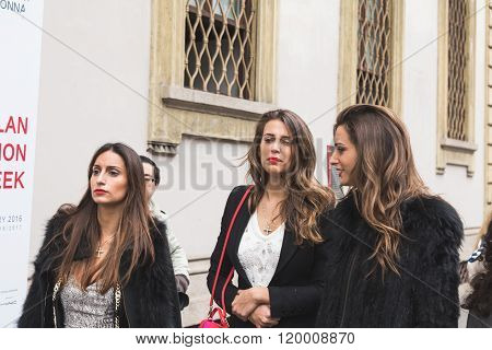 People At Milan Women's Fashion Week Fall/winter 16/17