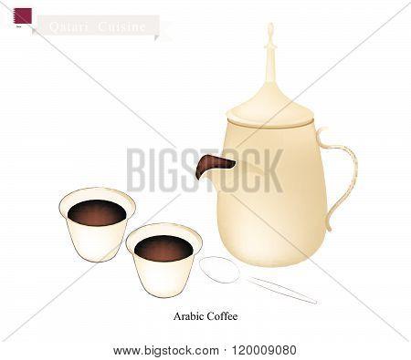 Traditional Arabic Coffee, Popular Dink In Qatar