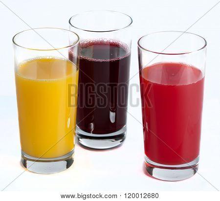fresh juice from citrus fruits - lemon, grapefruit, orange