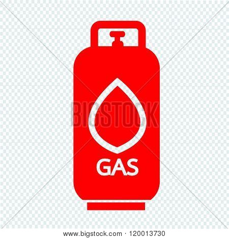 Liquid Propane Gas icon Illustration symbol design