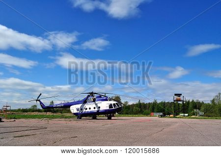 The Mil Mi-8 T  Helicopter Of Special Aviation Department Of The Ministry Of Interior Of Russia