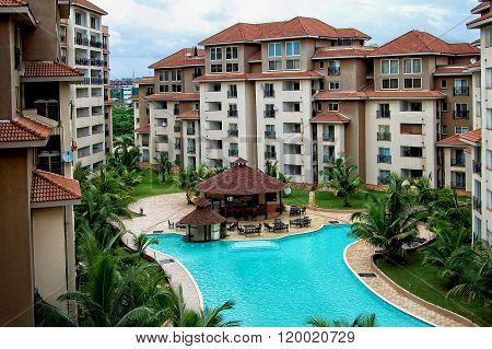 Modern residential building in Africa.