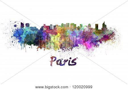 Paris V2 Skyline In Watercolor
