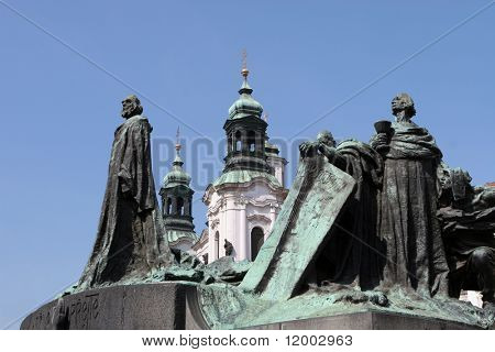 The statue of Wenceslas in Old Town Square, Prague