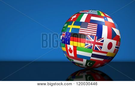 Business International Globe Flags