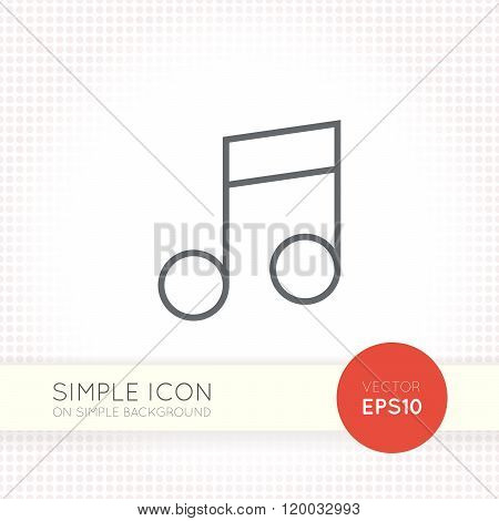 Thin line design vector universal musical notes icon. Elements for user interface.
