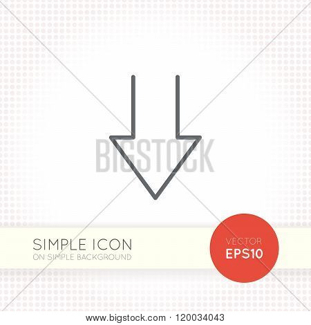 Thin line design vector universal arrow icon. Elements for user interface.