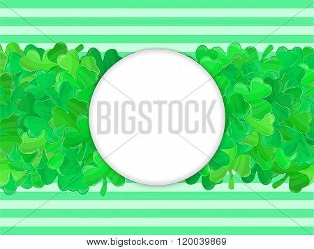 Patricks Day Green Clover Frame Cartoon 3