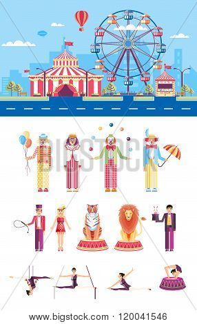 Circus with artists