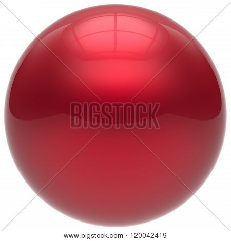 Sphere button round ball red geometric shape basic circle solid figure simple minimalistic element single drop shiny glossy sparkling object blank balloon atom icon