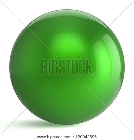 Sphere button round green ball geometric shape basic circle solid figure simple minimalistic atom element single drop shiny glossy sparkling object blank balloon icon