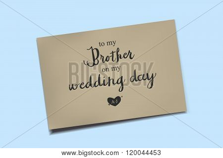 Thank You Card On My Wedding Day.