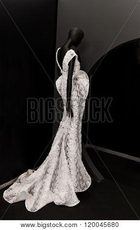 exclusive wedding dress on mannequin
