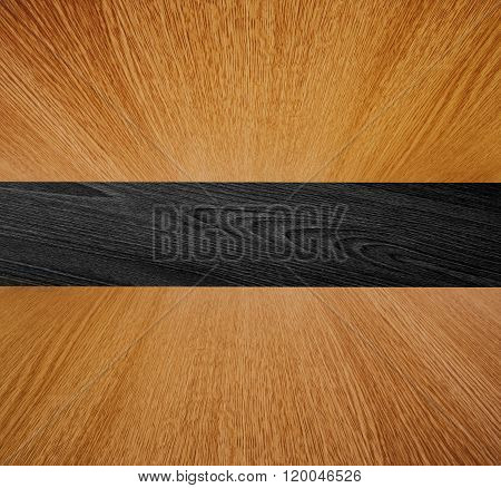 Wooden backdrop, wood in diminishing perspective - background texture with motion effect on ceiling and floor.
