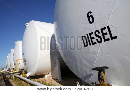 External fuel tanks at a filling station