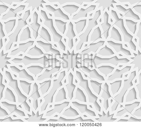 Seamless arabic geometric pattern east ornament indian ornament persian motif vector. Endless textur