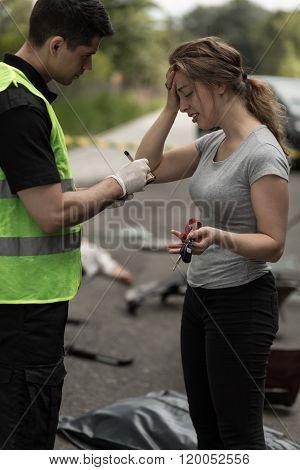 Policeman Taking Statement