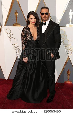 LOS ANGELES - FEB 28:  Charlotte Riley, Tom Hardy at the 88th Annual Academy Awards - Arrivals at the Dolby Theater on February 28, 2016 in Los Angeles, CA